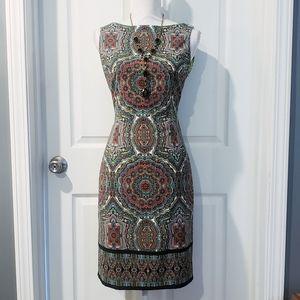 NWOT LONDON TIMES Sleeveless Sheath Dress